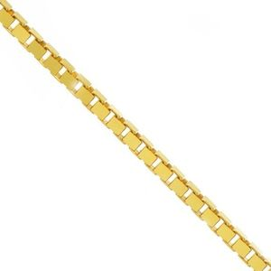 18k Yellow Gold Classic Box Link Necklace 20""